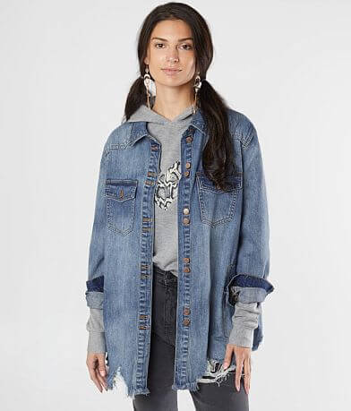 KanCan Signature Destructed Denim Jacket