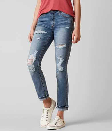 KanCan Mid-Rise Ankle Straight Stretch Jean