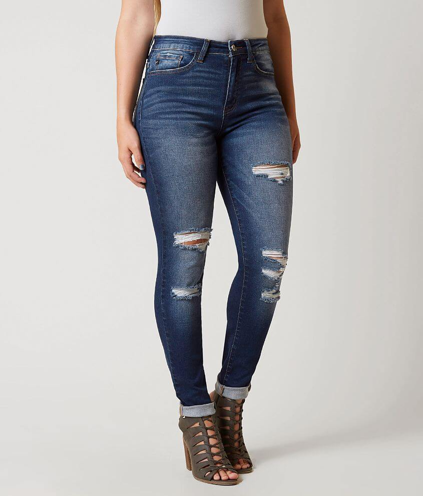 7686c6b765a KanCan Kurvy Ultra High Rise Skinny Stretch Jean - Women s Jeans in ...