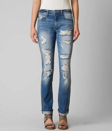 KanCan Mid-Rise Straight Stretch Jean
