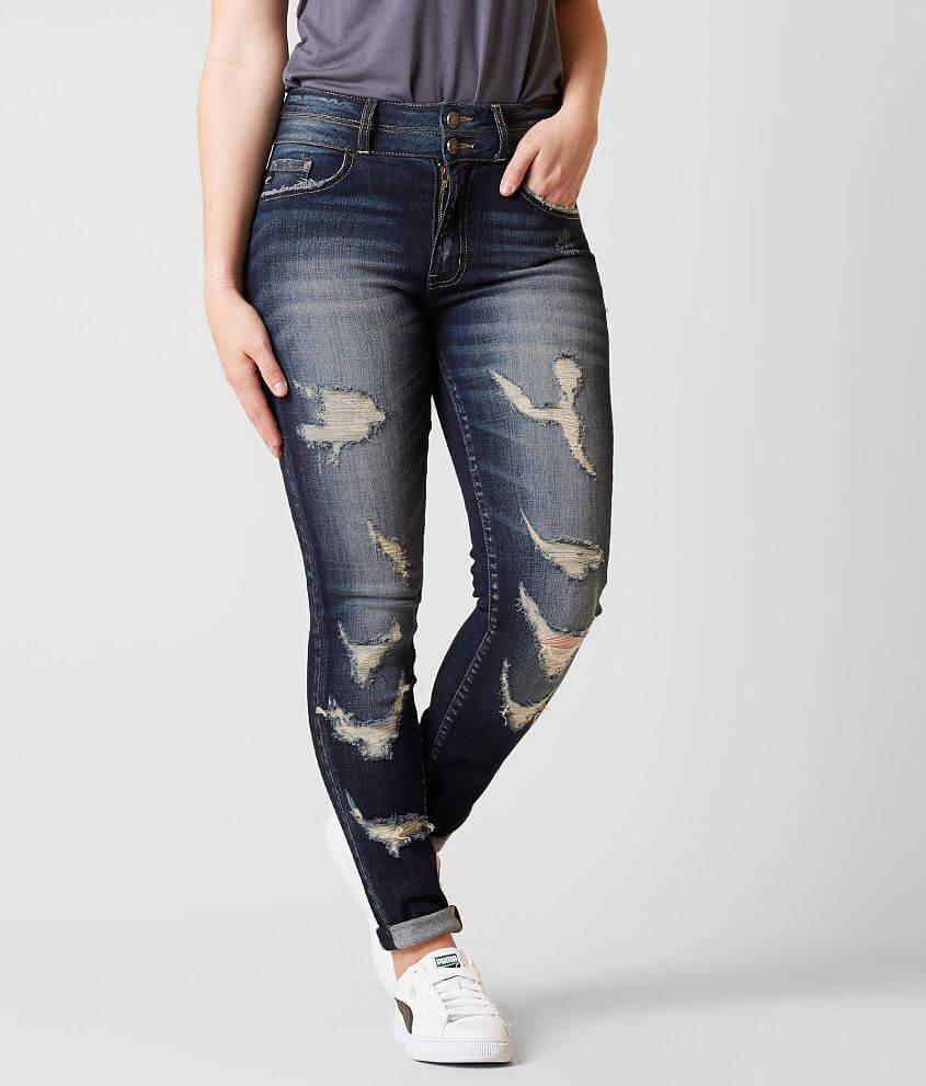 Kancan Kurvy Ultra High Rise Skinny Stretch Jean Women S Jeans In Zoey Buckle