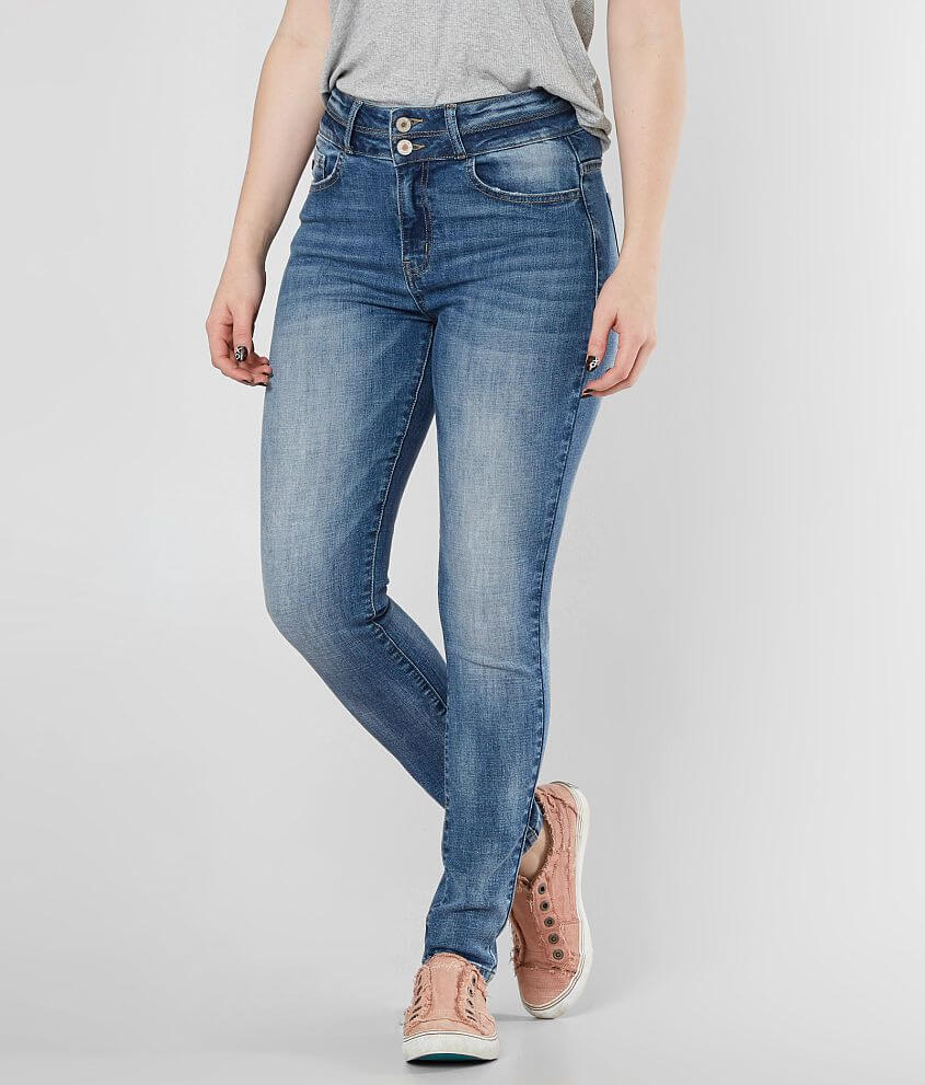 KanCan Kurvy Ultra High Ankle Skinny Stretch Jean front view