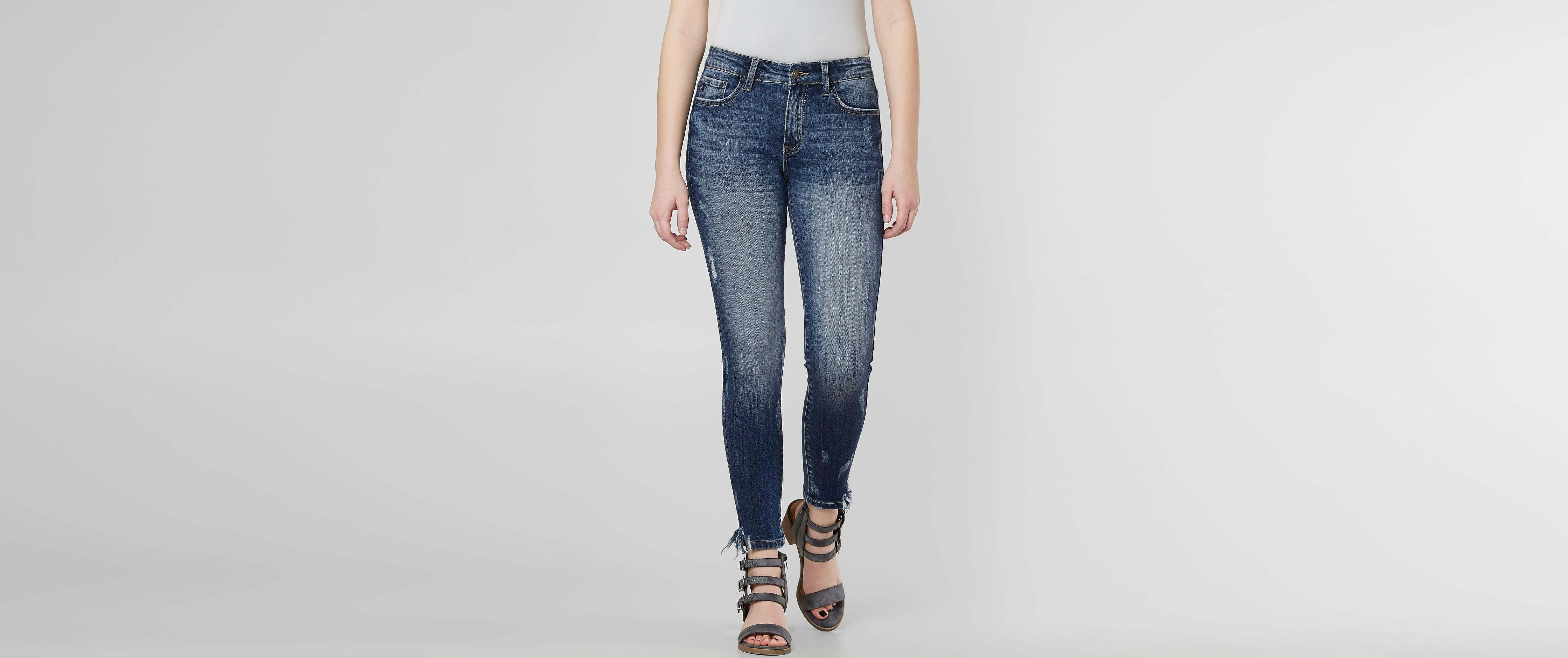 Top KanCan Mid-Rise Ankle Skinny Stretch Jean