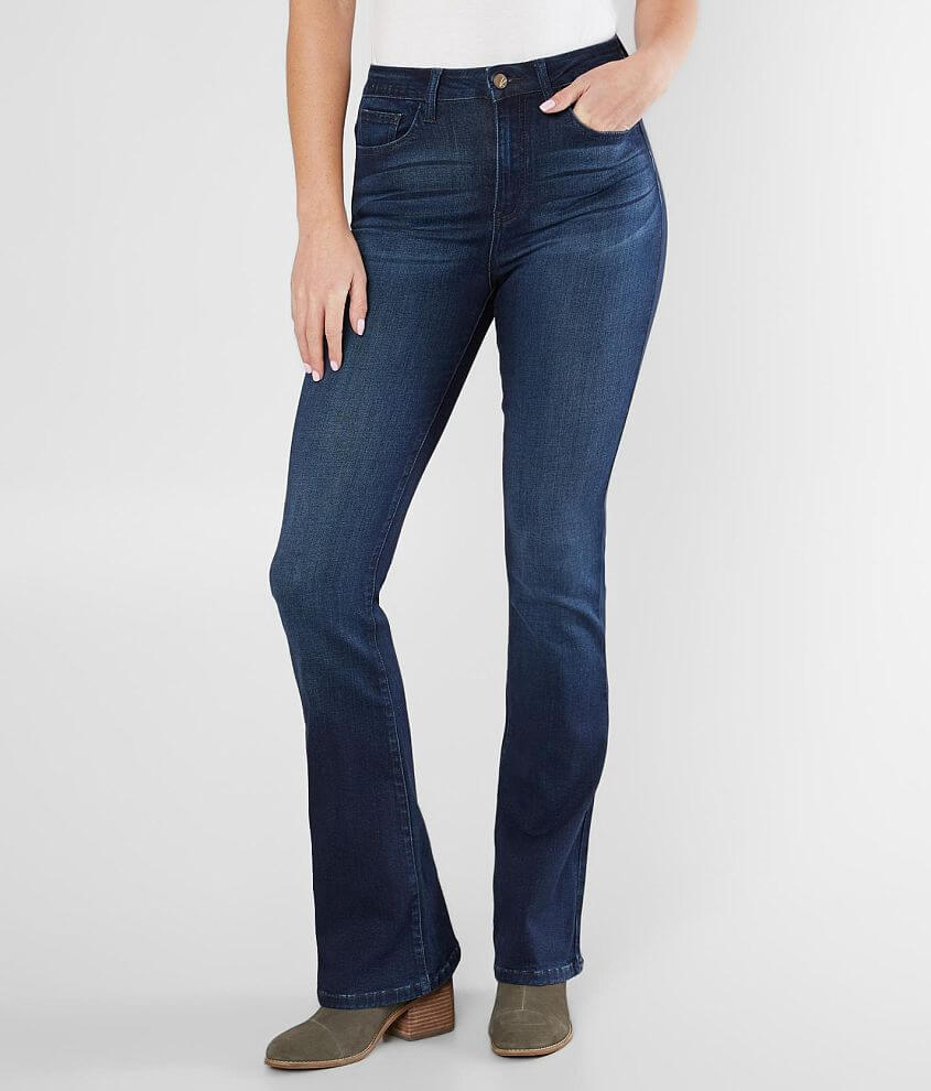 c48e6034996 KanCan Signature Kurvy Ultra High Rise Flare Jean - Women s Jeans in ...