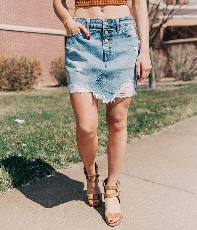 KanCan Signature High Rise Denim Mini Skirt
