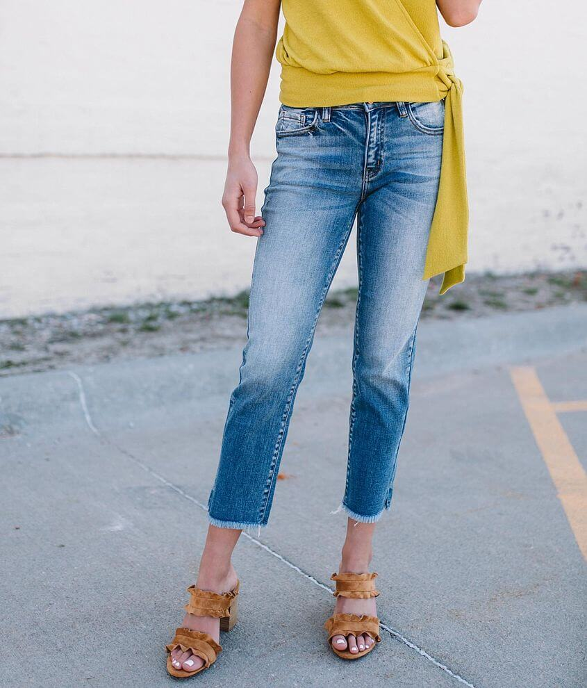 KanCan Signature Mid-Rise Stretch Cropped Jean front view