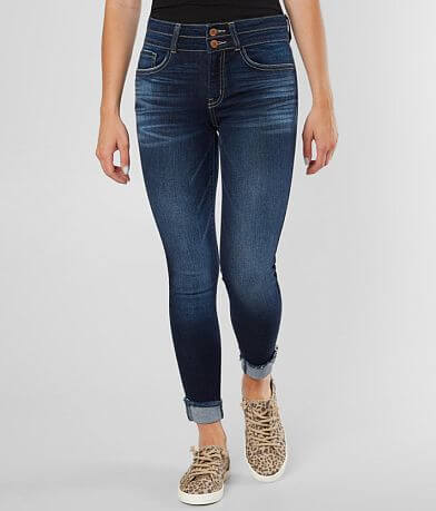 KanCan Signature Mid-Rise Ankle Skinny Cuffed Jean