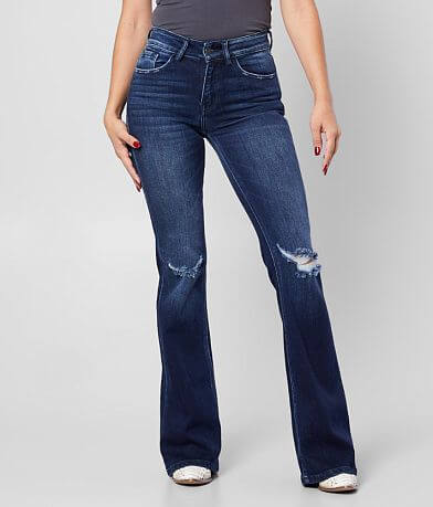KanCan Signature Kurvy Mid-Rise Flare Jean