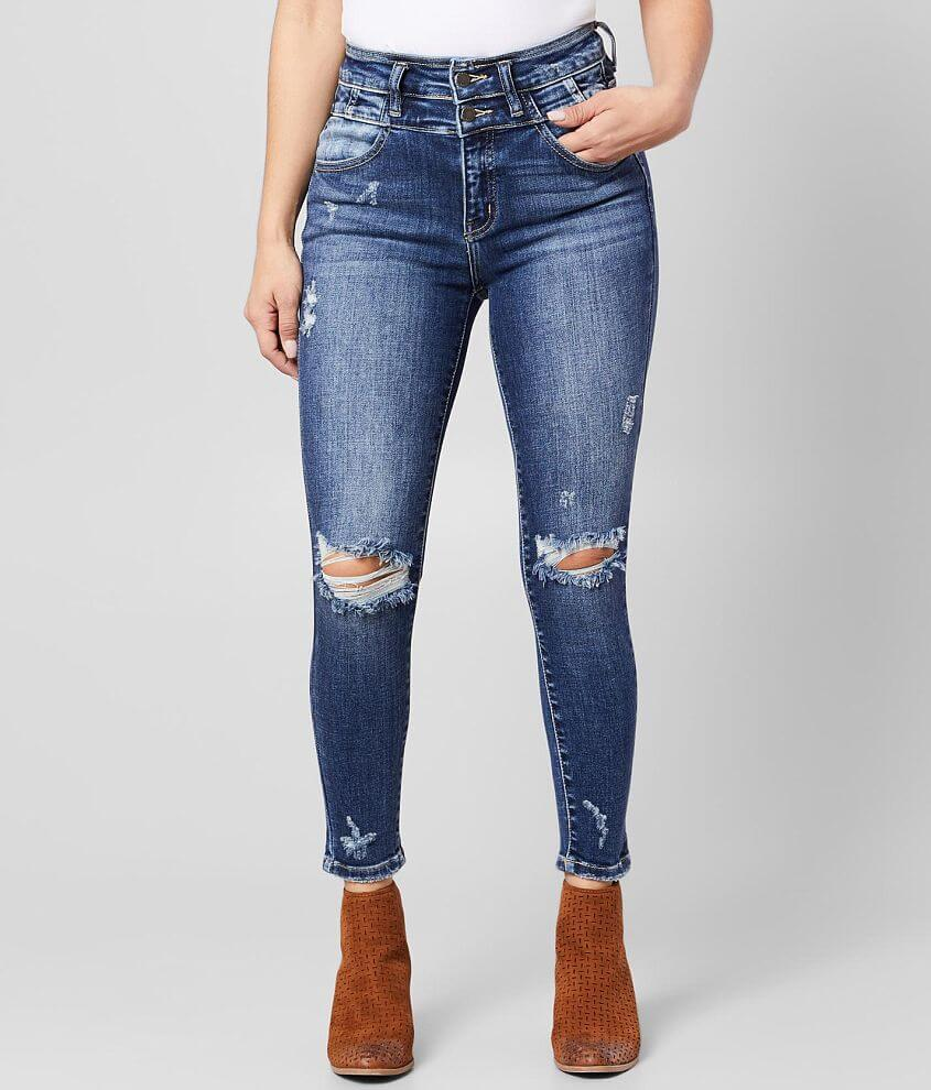 KanCan Signature Kurvy Ultra High Rise Ankle Jean front view