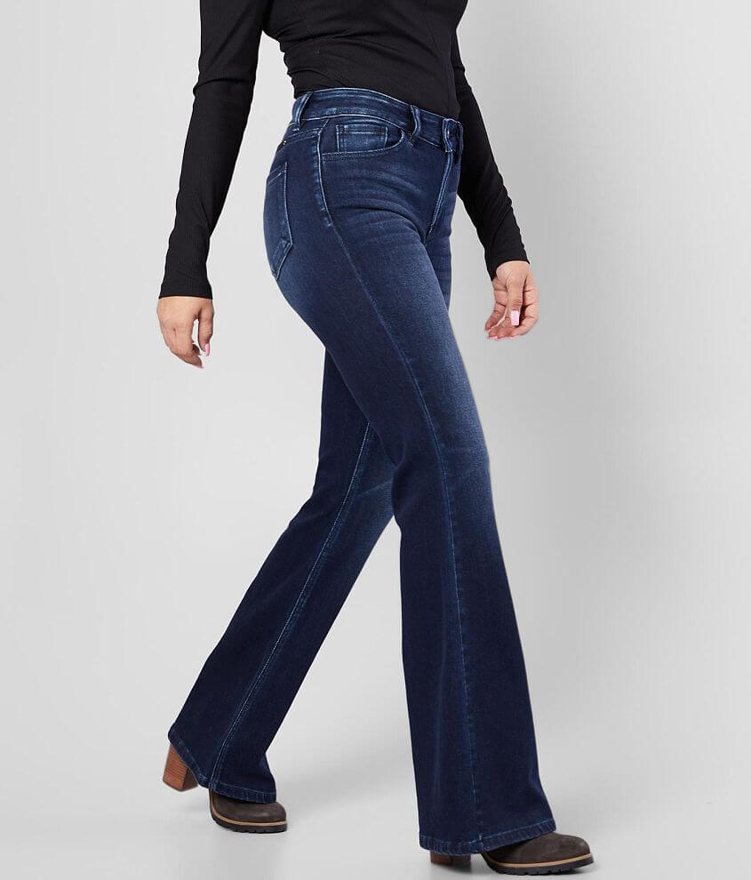 KanCan Signature Kurvy Mid-Rise Flare Jean front view