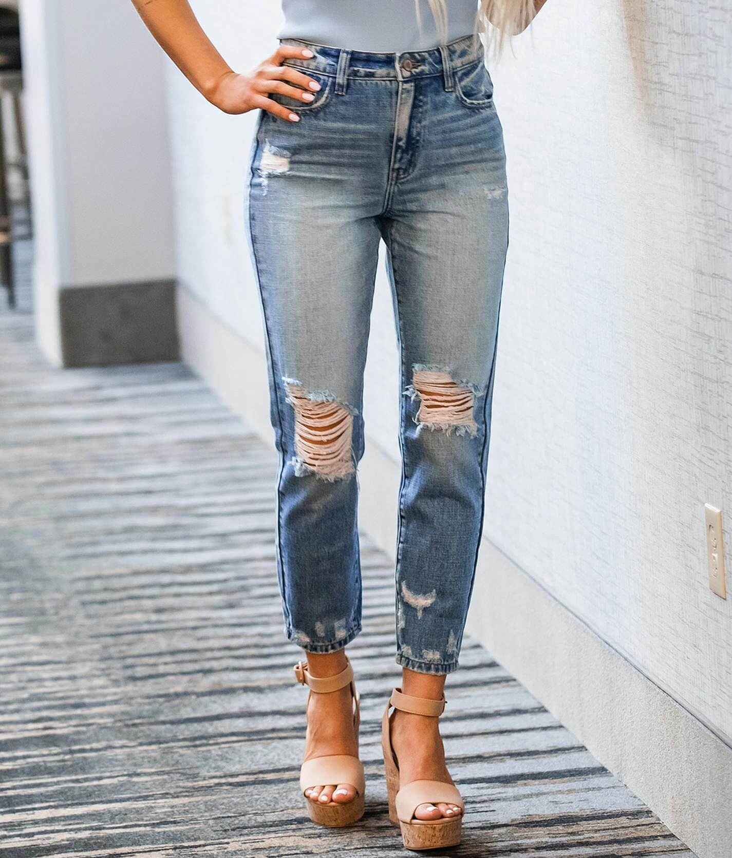 Kancan Signature High Rise Mom Jean Women S Jeans In Sandra Buckle