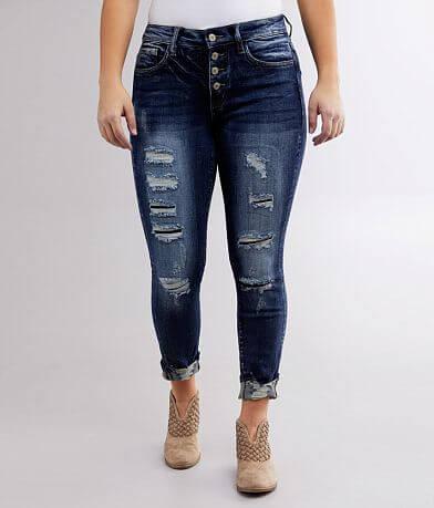 KanCan Signature Kurvy Mid-Rise Ankle Skinny Jean