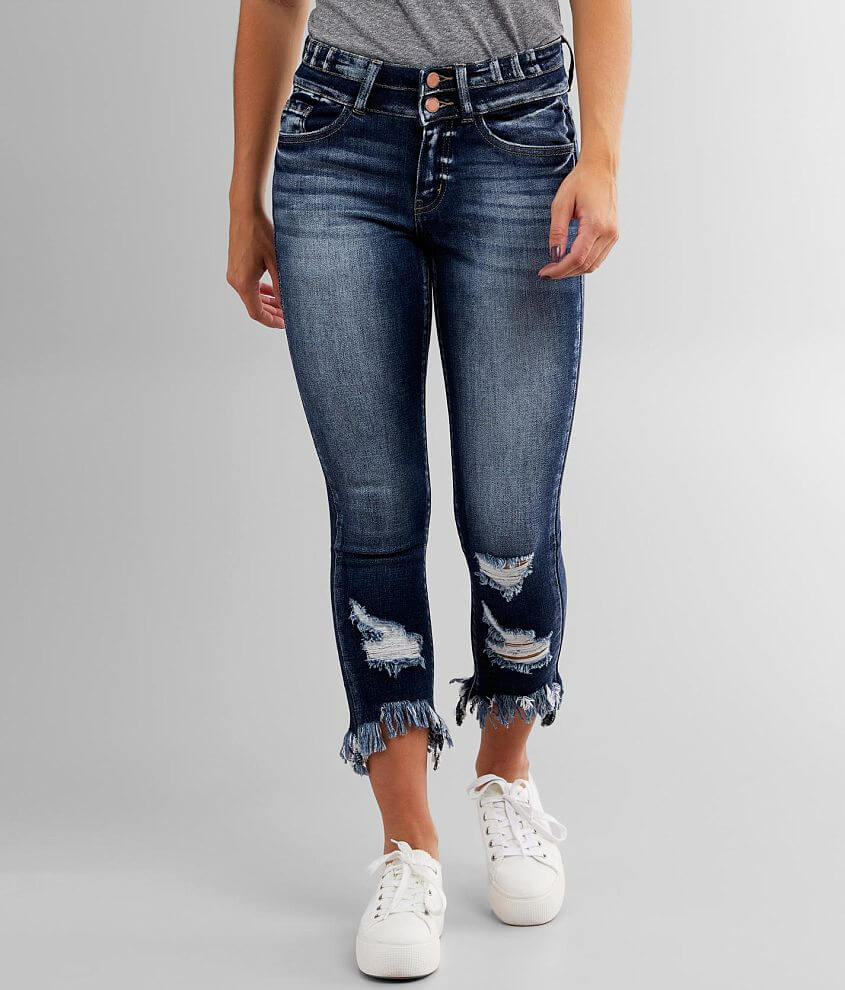 KanCan Signature Mid-Rise Ankle Skinny Jean front view
