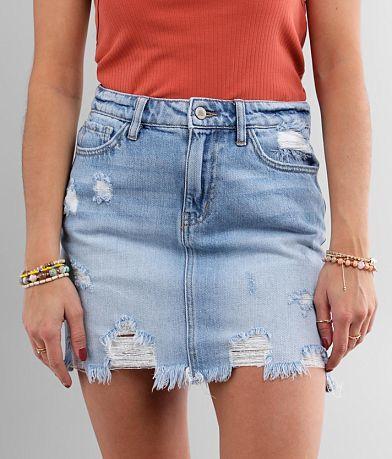 KanCan Signature High Rise Denim Mini Skirt