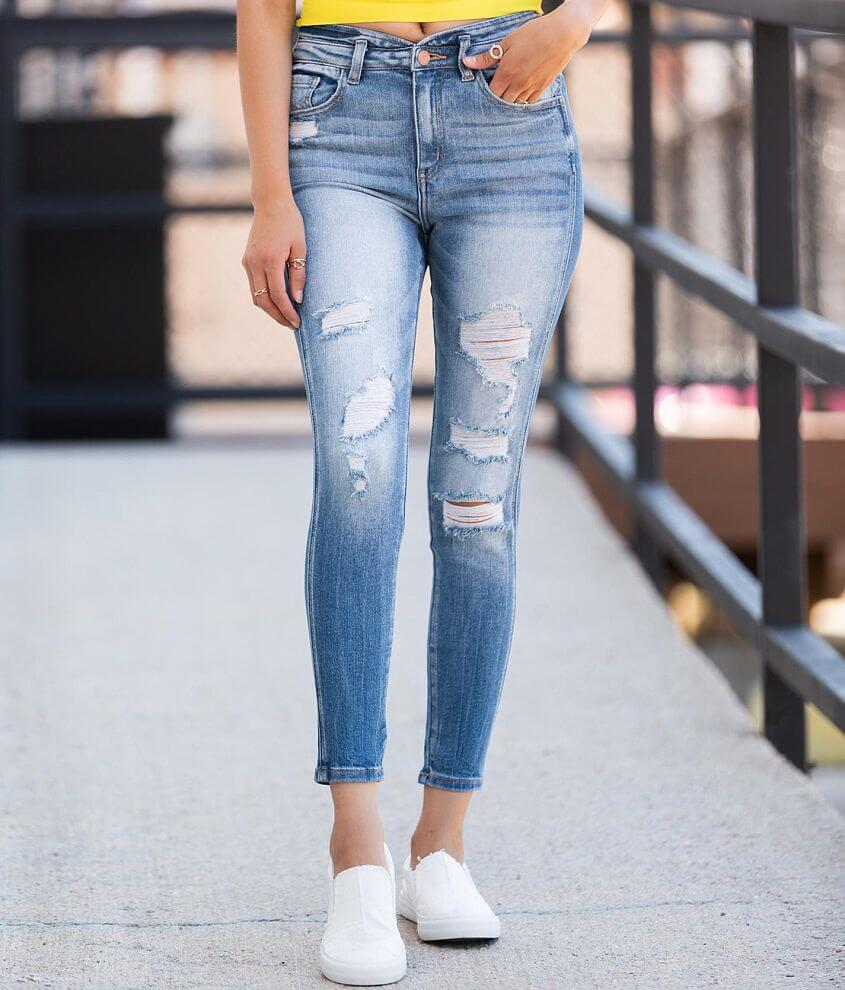 KanCan Signature Ultra High Ankle Skinny Jean front view