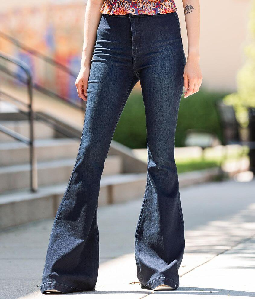 KanCan Signature Ultra High Extreme Flare Jean front view