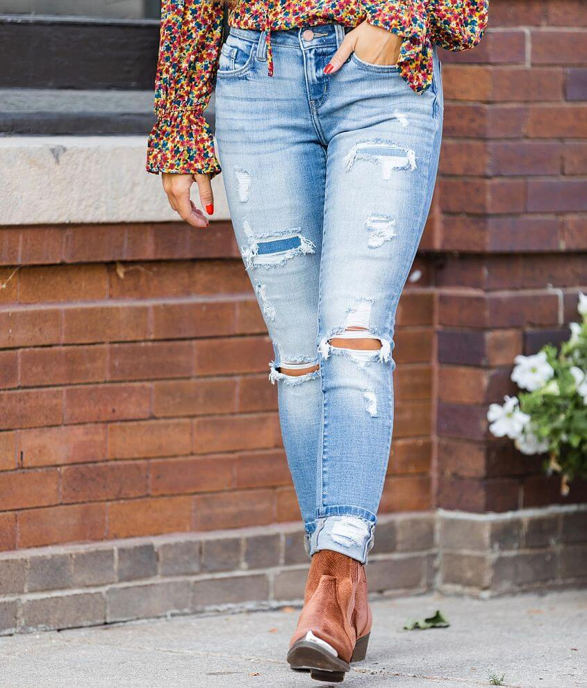 KanCan Signature Low Rise Cuffed Ankle Skinny Jean front view