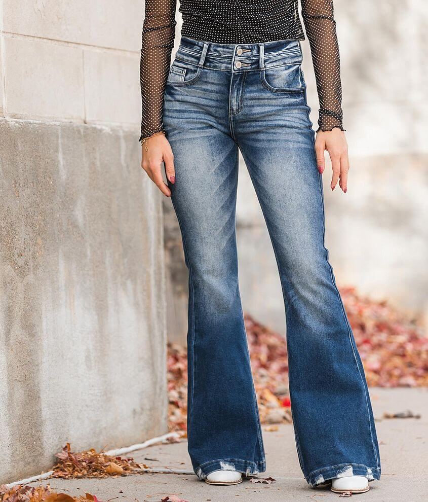 KanCan Signature High Rise Flare Stretch Jean front view