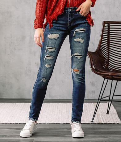 KanCan Signature Mid-Rise Skinny Stretch Jean