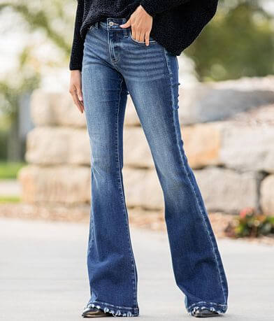 KanCan Signature Mid-Rise Flare Stretch Jean