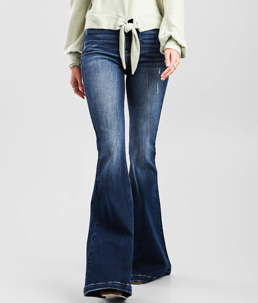 KanCan Signature Ultra High Rise Super Flare Jean front view