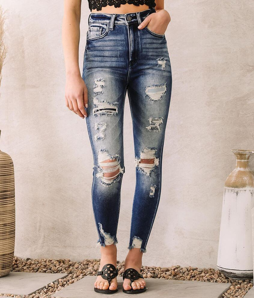 KanCan Signature Skye High Ankle Skinny Jean front view