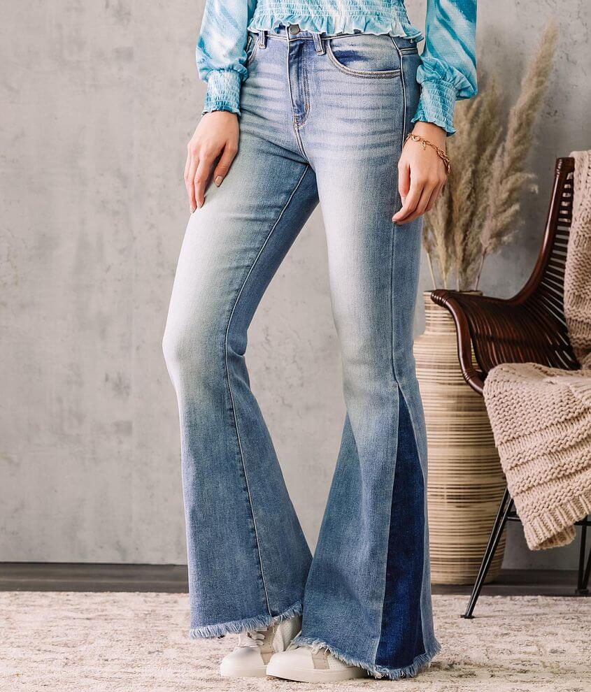 KanCan Signature Ultra High Super Flare Jean front view
