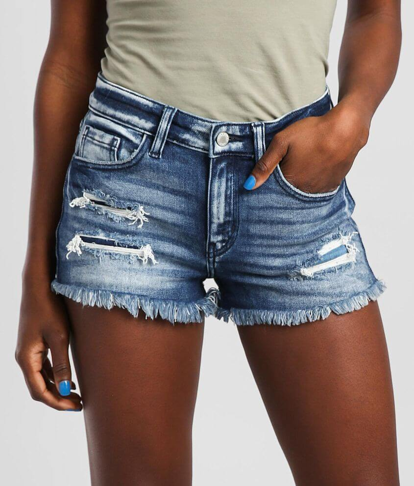 KanCan Signature Mid-Rise Stretch Short front view