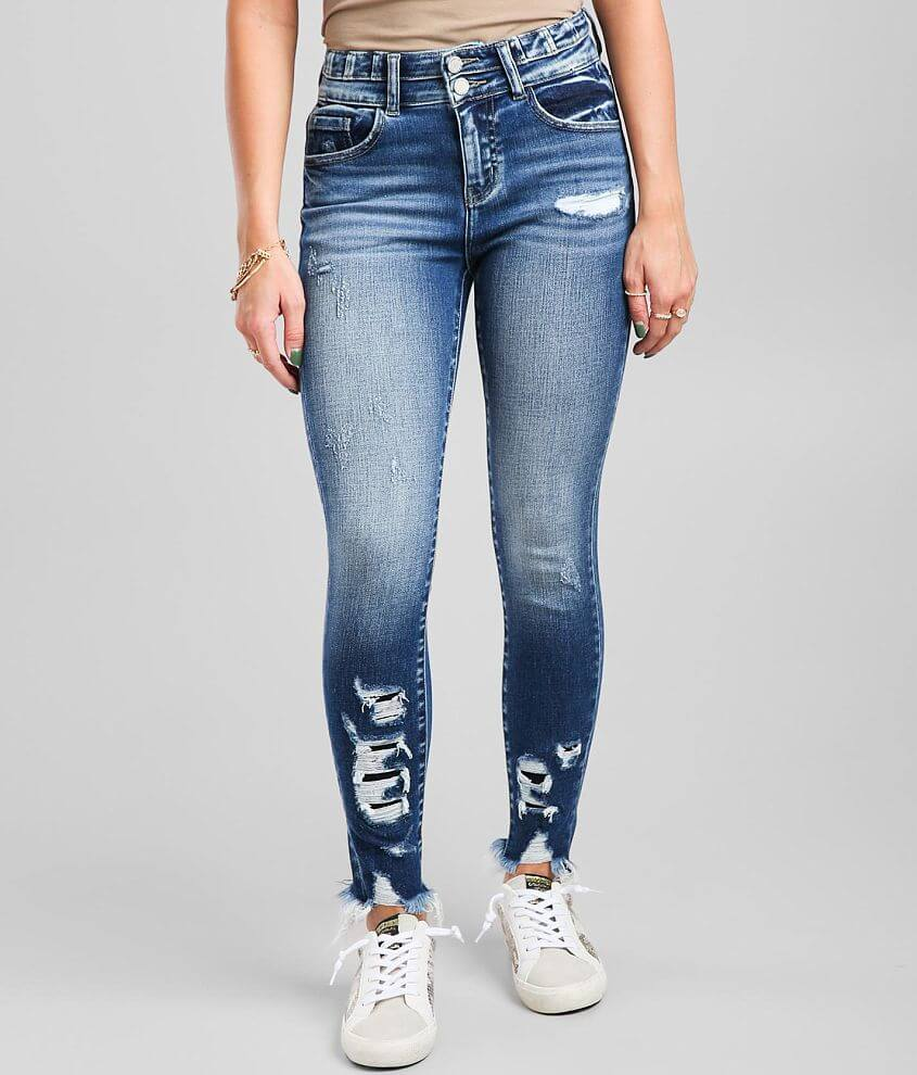 KanCan Signature High Rise Ankle Skinny Jean front view