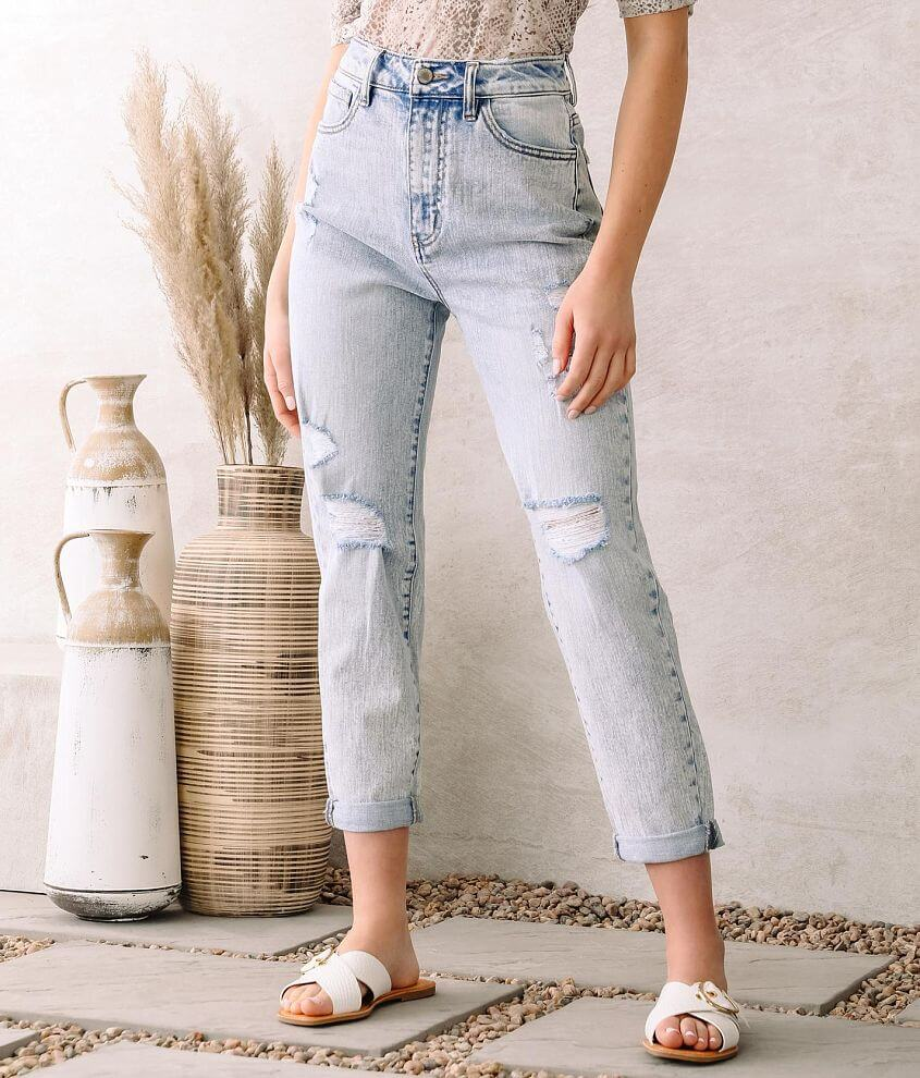 KanCan Signature Ultra High Rise Baggy Fit Jean front view