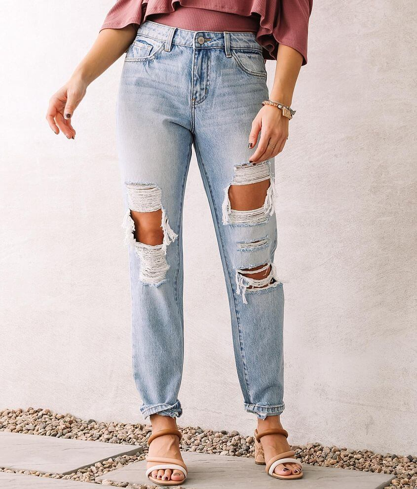 KanCan Signature High Rise Relaxed Ankle Jean front view