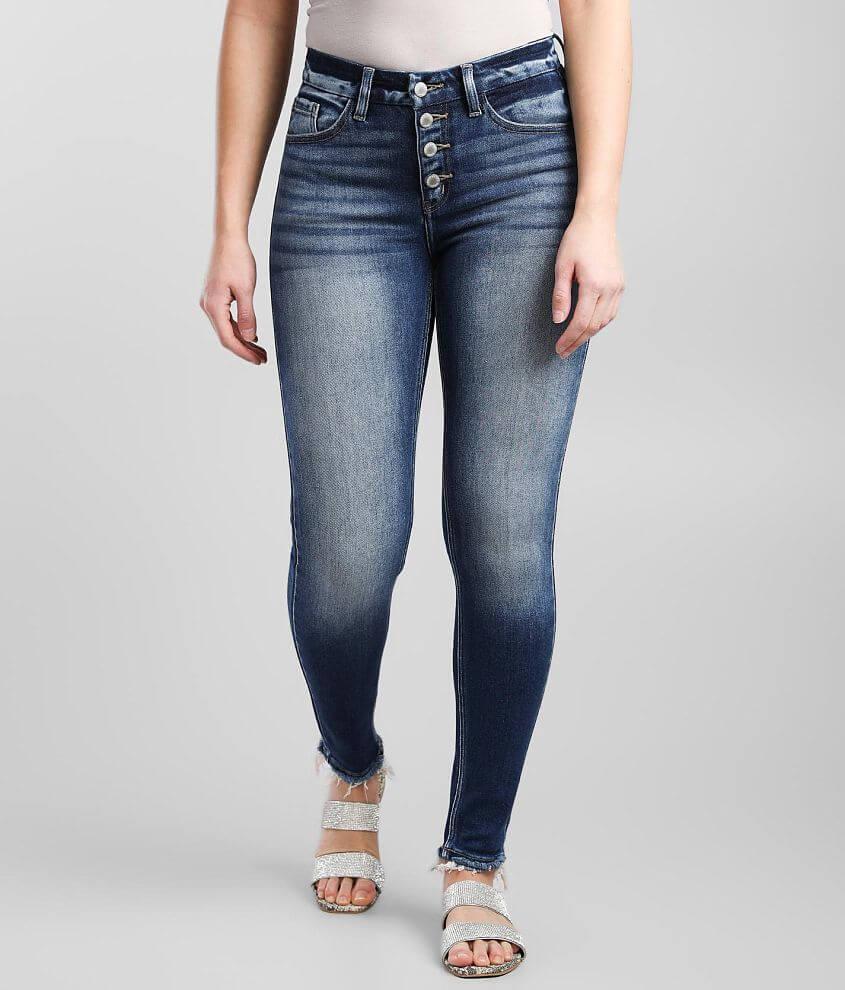 KanCan Signature Kurvy Mid-Rise Skinny Jean front view