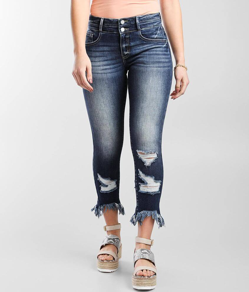 KanCan Signature Kurvy Mid-Rise Ankle Skinny Jean front view