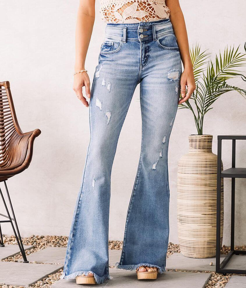 KanCan Signature High Rise Super Flare Jean front view