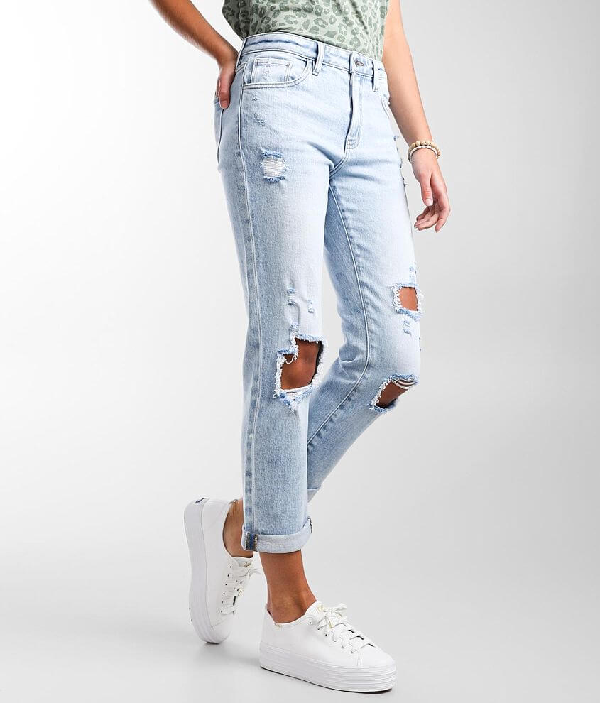 KanCan Signature High Rise Relaxed Stretch Jean front view