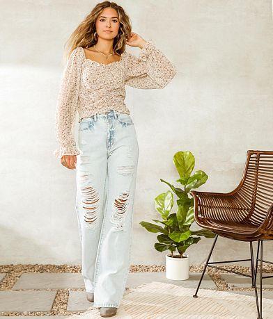 KanCan Signature High Waisted Wide Leg Jean