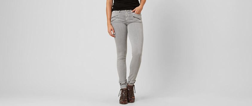 Gilded Intent Mid-Rise Skinny Stretch Jean front view
