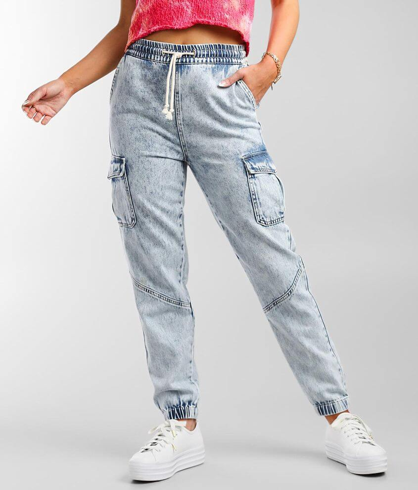 Gilded Intent Cargo Denim Jogger Jean front view