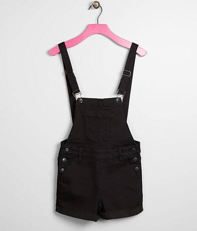 Girls - KanCan Signature Stretch Overall Shorts