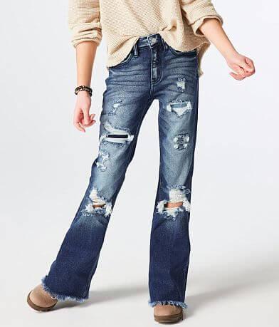Girls - KanCan Signature Slim High Rise Flare Jean