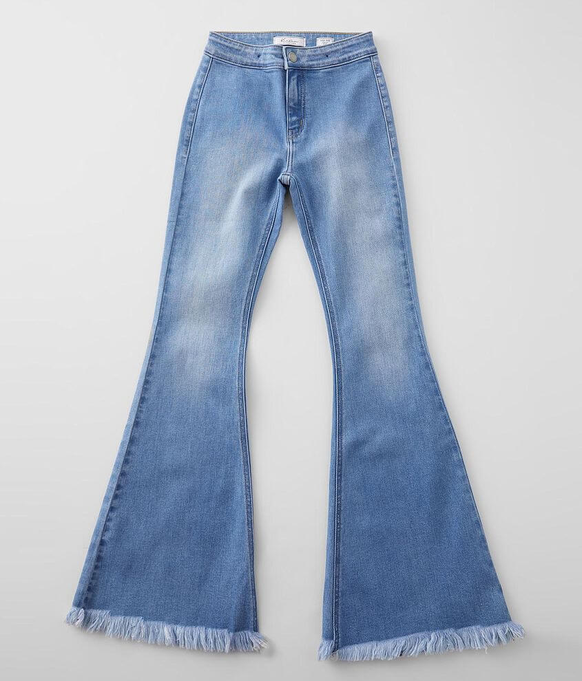 Girls - KanCan Signature Slim High Rise Flare Jean front view
