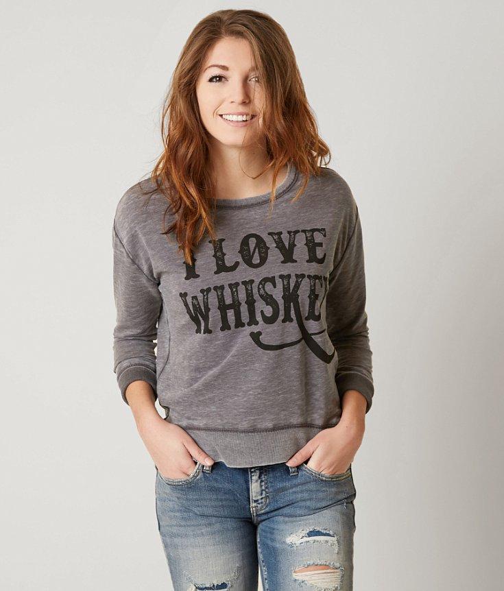 twine & stark I Love Whiskey Sweatshirt