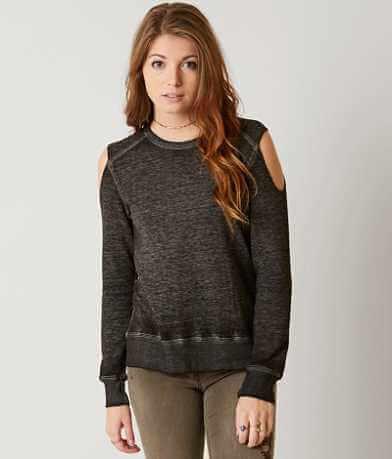 Modish Rebel Cold Shoulder Sweatshirt
