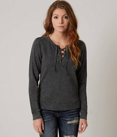 Modish Rebel Lace-up Sweatshirt