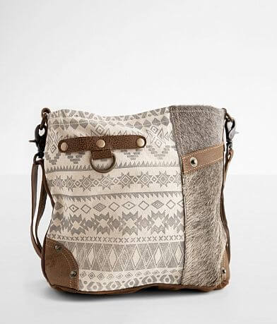 Myra Bag Side Southwestern Print Leather Purse