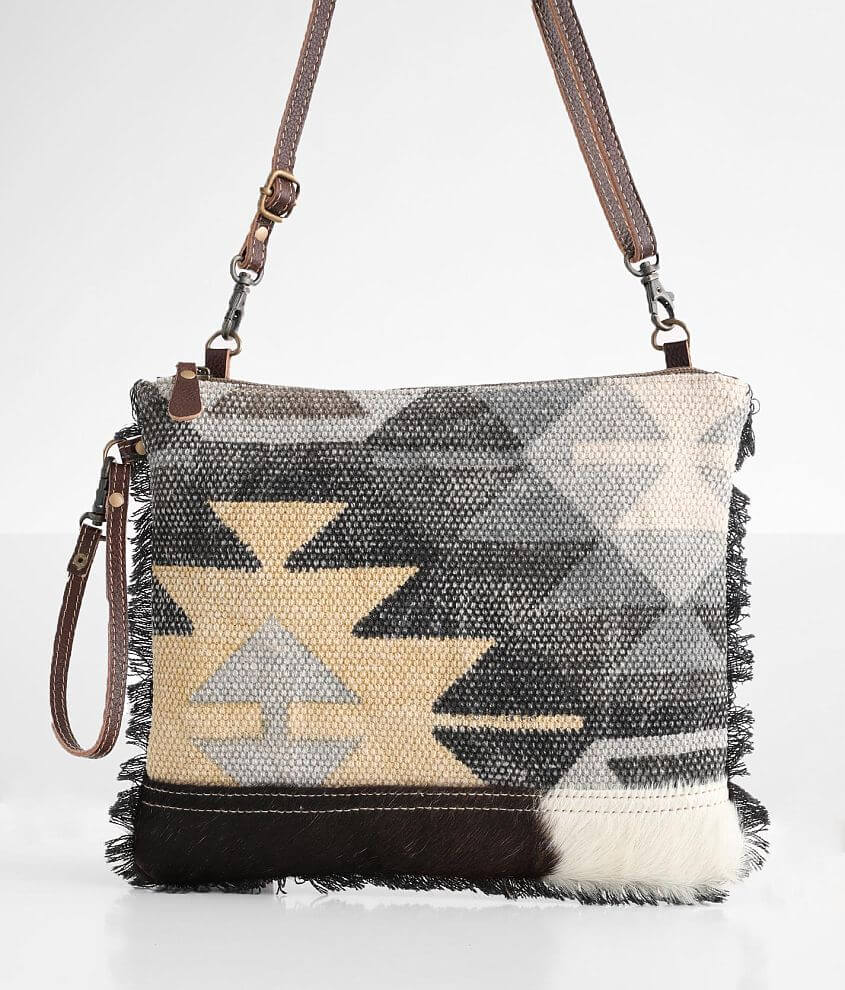 Myra Bag Gritty Leather Crossbody Purse front view