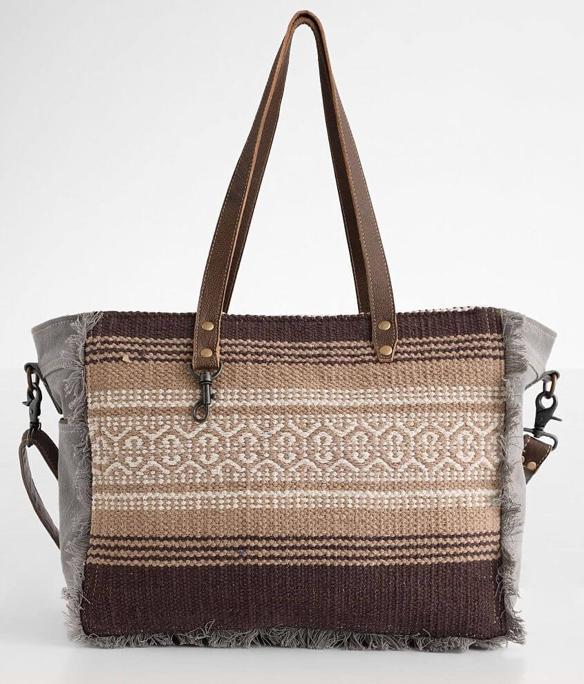Myra Bag Tribal Print Weekender Bag front view