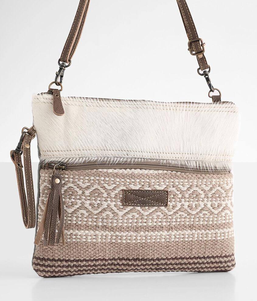 Myra Bag Presentable Leather Crossbody Purse front view