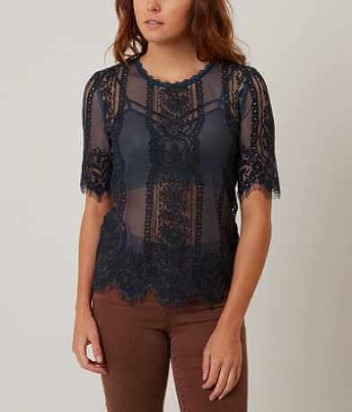 Daytrip Eyelash Lace Top
