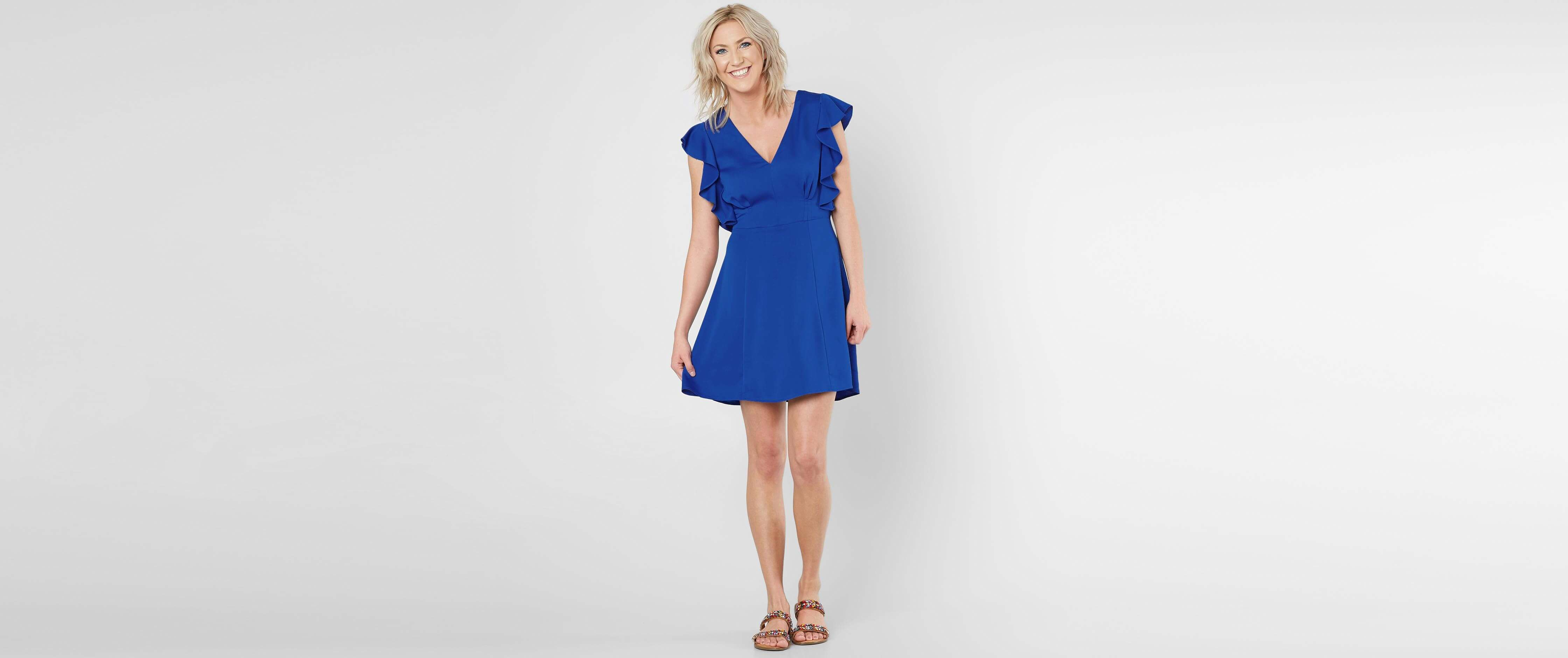 Royal Blue Ruffle Dress